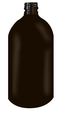Flacon plastique, PET, 500 ml marron fumé